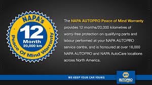 What's the deal with the NAPA Warranty?